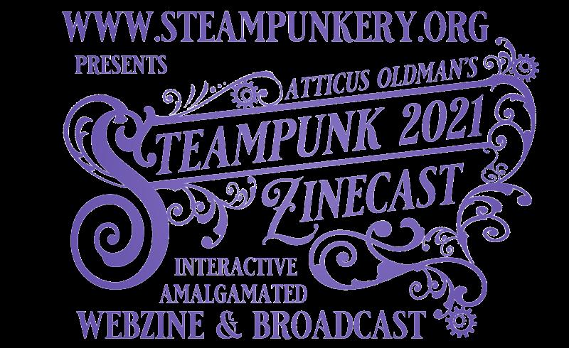 Steampunkery logo with url